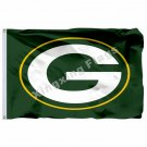 Green Bay Packers Logo Flag 3ft X 5ft Polyester NFL Green Bay Packers Banner Fly