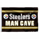 Pittsburgh Steelers Man Cave Flag 3ft X 5ft Polyester NFL1  Banner Flying Size N