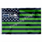 Seattle Seahawks House Divided Flag 3ft x 5ft Polyester
