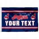 Cleveland Indians Custom Your Text Flag 3ft X 5ft Polyester MLB Team Banner Flyi