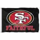 San Francisco 49ers Faithful Flag 3ft X 5ft Polyester NFL1 San Francisco 49ers B