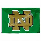 Notre Dame Fighting Irish Flag 3ft X 5ft Polyester NCAA  Banner Flying Size No.4