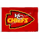 Kansas City Chiefs Flag 3ft x 5ft Polyester NFL Kansas City Chiefs Banner flag