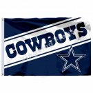 Dallas Cowboys Wordmark Flag 3ft X 5ft Polyester NFL1 Team Banner Flying Size No
