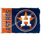 Houston Astros Wordmark Flag 3ft X 5ft Polyester MLB Houston Astros Banner Flyin