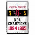 Houston Rockets World Champions Flag 3ft X 5ft Polyester NBA1 Banner Flying Size