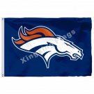 Denver Broncos  Logo Flag 3ft X 5ft Polyester NFL Denver Broncos Banner Flying S