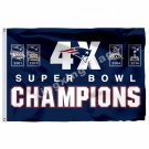 New England Patriots Super Bowl Champions 4X Flag 3ft X 5ft Polyester NFL1 Team