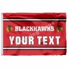 Chicago Blackhawks Custom Your Text Flag 3ft X 5ft Polyester NHL Team Banner Fly