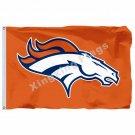 Denver Broncos Logo Flag 3ft X 5ft Polyester NFL Denver Broncos Banner Flying Si
