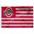 Ohio State Buckeyes With Modified US Flag 3ft X 5ft Polyester NCAA Banner Ohio S