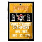 Pittsburgh Pirates World Series Champions Flag 3ft X 5ft Polyester MLB Banner Fl