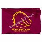 Brisbane Broncos Flag 3ft X 5ft National Rugby League NRL Banner Size 4 144* 96c