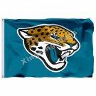 Jacksonville Jaguars Logo Flag 3ft X 5ft Polyester NFL Jacksonville Jaguars Bann