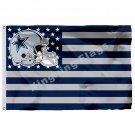 Dallas Cowboys Helmet Horizontal Strip Flag 3ft x 5ft Polyester NFL Team Banner