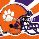 Clemson Tigers Helmet Flag 3ft x 5ft Polyester NCAA Banner Clemson Tigers Flying