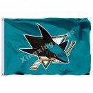 San Jose Sharks Large Logo Flag 3ft x 5ft Polyester NHL Banner San Jose Sharks F