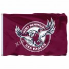 Manly-Warringah Sea Eagles Flag 3ft X 5ft National Rugby League NRL Banner Size