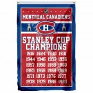 Montreal Canadiens Stanley Cup Champions Flag 3ft X 5ft Polyester NHL Banner Fly