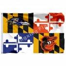Baltimore Ravens Baltimore Orioles Maryland Flag 3ft X 5ft Polyester NFL Baltimo