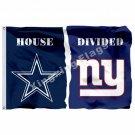 Dallas Cowboys New York Giants House Divided Flag 3ft X 5ft Polyester NFL Banner