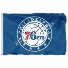 Philadelphia 76ers LOGO Flag 3ft X 5ft Polyester NBA1 Philadelphia 76ers Banner