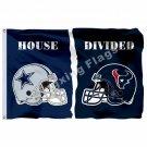 Dallas Cowboys Houston Texans House Helmet Divided Flag 3ft X 5ft Polyester NFL1