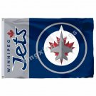 Winnipeg Jets Wordmark Flag 3ft X 5ft Polyester NHL Banner Winnipeg Jets Flying