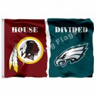 Washington Redskins Philadelphia Eagles House Divided Flag 3ft x 5ft Polyester N