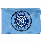 New York City FC Flag 3ft X 5ft Polyester North American Soccer US Soccer Club B