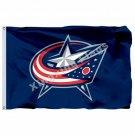 Columbus Blue Jackets Large Logo Flag 3ft x 5ft Polyester NHL Banner Columbus Bl