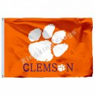 Clemson Tigers stripes Flag 3ft x 5ft Polyester NCAA Clemson Tigers Banner Flyin