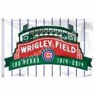 MLB Chicago Cubs MLB Baseball Flag 3X5FT 150X90CM Banner WRIGLEY FIELD 100 YEARS
