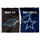 Carolina Panthers Dallas Cowboys House Divided Flag 3ft x 5ft Polyester NFL Bann
