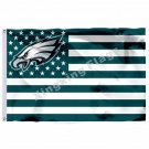 Philadelphia Eagles With Modified US Flag 3ft X 5ft Polyester NFL Banner Flying