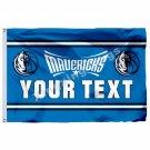 Dallas Mavericks Custom Your Text Flag 3ft X 5ft Polyester NBA1 Team Banner Flyi