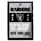 Oakland Raiders Super Bowl Champions Flag 3ft X 5ft Polyester NFL1 Banner Flying