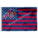 Atlanta Braves New Nation Flag Stripe 3ft X 5ft Polyester MLB Atlanta Braves Ban