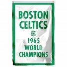 Boston Celtics 1965 World Champions Flag 3ft x 5ft Polyester NBA Team Banner Fly