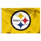 Car Flag Pittsburgh Steelers car flag 12x18inches double sided 100D Polyester NF