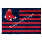 Boston Red Sox Nation Flag Stripe 3ft X 5ft Polyester MLB Boston Red Sox Banner
