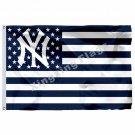 New York Yankees Nation Flag 3ft X 5ft Polyester MLB New York Yankees Stripe Ban