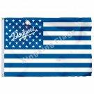 Los Angeles Dodgers New Nation Flag Stripe 3ft X 5ft Polyester MLB Banner Flying