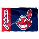 Cleveland Indians Wordmark Flag 3ft X 5ft Polyester MLB Cleveland Indians Banner