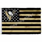 Pittsburgh Penguins Nation Flag 3ft X 5ft Polyester NHL Pittsburgh Penguins Bann