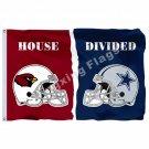 Arizona Cardinals Dallas Cowboys Helmets House Divided Flag 3ft X 5ft Polyester