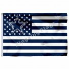 NFL Dallas Cowboys Flag Banner With Modified US Flag 3ft X 5ft Polyester Flying