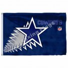 Dallas Cowboys Texas State Flag 3ft X 5ft Polyester NFL Team Banner Flying Size