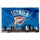 Oklahoma City Thunder Oklahoma City Skyline Flag 3ft X 5ft Polyester NBA1 Team B