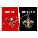 Tampa Bay Buccaneers New Orleans Saints House Divided Flag 3ft X 5ft Polyester N